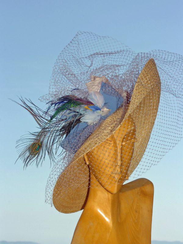 """Chapeau de cérémonie """"Nuage"""""""